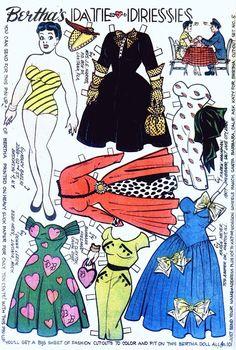 Katy Keene Comic Book Paper Dolls, Bill Woggon Art, Bertha Date Dresses Comic Book Paper, Comic Books, Paper Toys, Paper Crafts, Kid Crafts, Paper Art, Newspaper Paper, Creation Art, Paper Dolls Printable