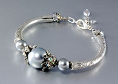 """""""Milky Way"""" - Shell Pearl and Sterling Silver Necklace/Bracelet/Earrings/Set"""
