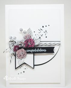 Happy Birthday Gorgeous Grunge, Stampin Up, Swirly Comments Wedding Anniversary Cards, Wedding Cards, Happy Birthday Gorgeous, Engagement Cards, Beautiful Handmade Cards, Congratulations Card, Card Sketches, Scrapbook Sketches, Paper Cards