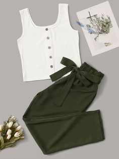 Really Cute Outfits, Cute Lazy Outfits, Crop Top Outfits, Stylish Outfits, Sporty Outfits, Girls Fashion Clothes, Teen Fashion Outfits, Retro Outfits, Outfits For Teens
