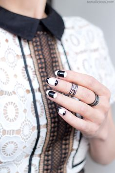 French nails to match French dress. Click through for nail art tutorial.