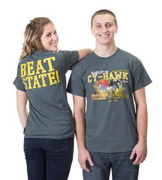 Head to the Iowa Hawk Shop to purchase an Iowa Hawkeye Cy-Hawk Showdown Tee before the Iowa vs. Iowa State football game this Saturday! hawkshop.com