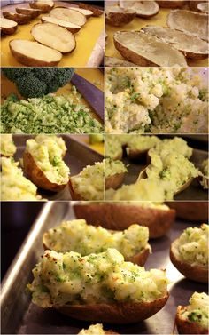 Twice Baked Cheddar Broccoli Potatoes