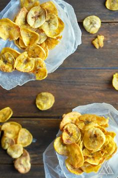 Baked Plantain Chips | The Little Pine