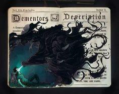 巴西插画师 Picolo Kun 本本上的手绘水彩《哈利波特》
