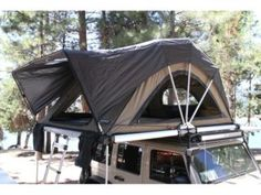 It is the Freespirit Recreation High Country Series roof top tent and it is about to change the way you look at spending time in the great outdoors. Top Tents, Roof Top Tent, Camping Spots, Tent Camping, Camping Stuff, Camping Ideas, Ford Ranger, Generator Shed, 4x4