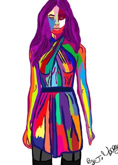 A women Fashion  Illustration concept       By Jessica Josphine Mooney