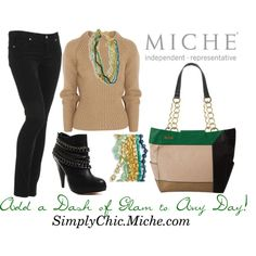 """""""Add a Dash of Glam to Any Day!"""" by miche-kat on Polyvore  Miche Morning Dew necklace $98.00 and worth it! Miche Demi Kasi $34.95 http://www.simplychicforyou.com/"""