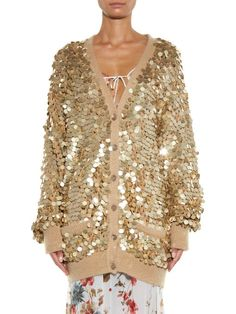 Saint Laurent Sequin-embellished cardigan