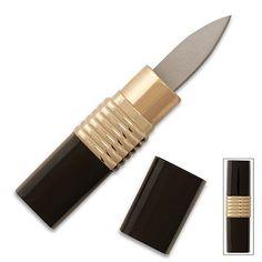 Lipstick Knife - Black & Gold - Covert Hidden Blade
