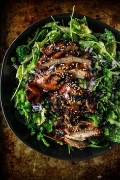 Chicken Teriyaki Salad- gluten free from HeatherChristo.com