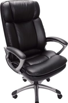 Shop Staples for Serta Executive Big and Tall PureSoft Faux Leather Office Chair, Smooth Black Executive Office Chairs, Home Office Chairs, Office Furniture, Desk Office, Furniture Decor, Furniture Design, Black Office Chair, Boho Home, Bedroom Chair
