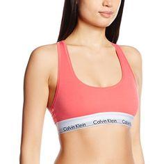 Calvin Klein underwear Damen Bustier BRALETTE, Gr. 38 (Herstellergröße: L), Rosa (POISE 6OI) - http://besteckkaufen.com/calvin-klein/38-herstellergroesse-l-calvin-klein-underwear