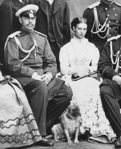 Emperor Alexander III and his consort, Empress Maria , nee Princess Dagmar of Denmark.