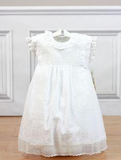 Vestido plumeti blanco entredos triple 2951 Belan