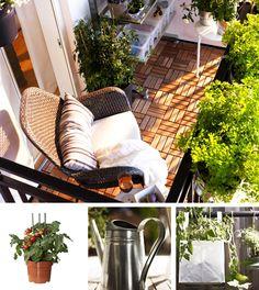 Balkon Modern Balcony, Tiny Balcony, Small Balcony Decor, Small Outdoor Spaces, Narrow Balcony, Balcony Ideas, Balcony Planters, Balcony Gardening, Ikea Design