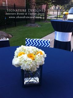 Nautical baby shower - floral design