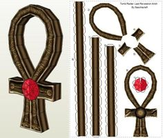 """The Ankh - Key Of Life Egyptian Artfiact Paper Model - by Sascha Craft      ====              The Ankh from Tutankhamun Tomb  Another model from Tomb Raider IV: The Last Revelation: the Ankh, in a paper model version create by designer Sascha Craft. In Egyptian mythology, the Ankh , also known as key of life, the key of the Nile or crux ansata, was the ancient Egyptian hieroglyphic character that read """"life""""."""