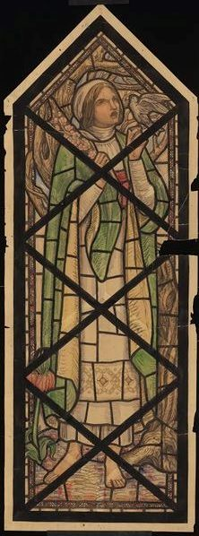 Cartoon for a stained glass window in All Saint's Cathedral, Khartoum, by Mabel Esplin, ca. 1912. Museum no. E.2302-1934.