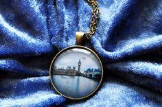 Halskette London Westminster I - Fotografie und Schmuck aus Hamburg - elbvue - Künstler und Designer unterstützen - Startups - Fotokette mit Anhänger - UK - England - Birtish - Palace - Big Ben - Bridge