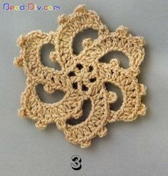 Crochet motif #3 ♥LCS♥ with diagram