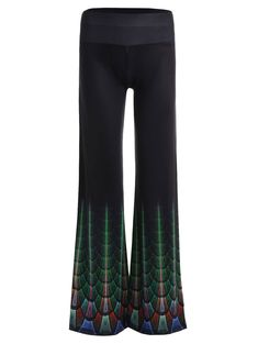High Waist Wide Leg Print Pants