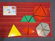 Inspired Montessori and Arts at Dundee Montessori: Constructive Triangles - Small Hexagon Box Montessori Math, Preschool Curriculum, Kindergarten, Hexagon Box, Dundee, Learning Centers, Geometry, Shapes, Art Children