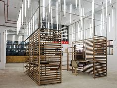 haka building - recycle office... love the lighting and space.