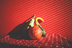 Free Image: Decorative Pumpkins in Red | Download more on picjumbo.com!