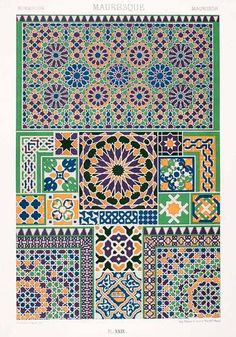 1875 variety of patterns form the Moors of Spain and northern Africa.