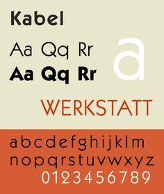 Font of the week: Kabel · Matt Ryall