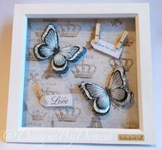 Wall Art Butterfly Art Butterfly Picture Frame by DesignsByDenisa