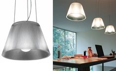 Flos Romeo Moon S1 Hanging Lamp by Philippe Starck