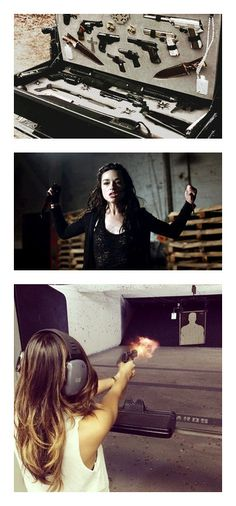"""quicksilver 2"" by geekgirl199 ❤ liked on Polyvore featuring weapons, pictures, backgrounds, supernatural, photos, fillers, crystal reed, teen wolf, people and people - crystal reed"