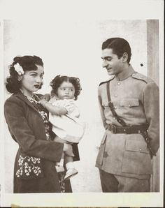Empress Fawzia sister of the King Farouk and her ex-husband, the Shah of Iran, Mohammad Reza Pahlavi, and their daughter Princess Shahinaz