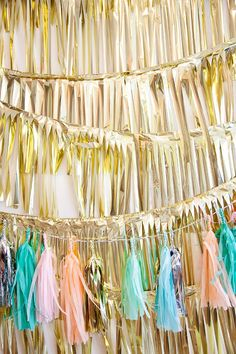 Pastel and gold garlands by the Confetti System(Inspiration board for Vera Bradley Holiday Dogwood)
