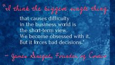 Leadership Inspiration Quote of the Day, Costco Founder Sinegal on Avoiding Bad Business Choices #quotes #inspiration #costco #business #retail