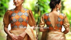 Latest Blouse Front and Back Side Neck Designs Blouse Back Neck Designs, Simple Blouse Designs, Stylish Blouse Design, Designer Blouse Patterns, Fancy Blouse Designs, Saree Blouse Patterns, Design Of Blouse, Saree Jacket Designs Latest, Latest Blouse Patterns