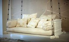 Gwyneth Paltrow - Manhattan loft - Living room swing chair - design by Roman and Williams.jpg