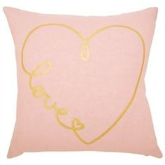 Expressions Pillow – Love Letter, Macaroon