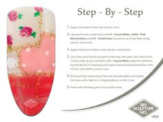 Patchwork step-by-step Work Nails, Fun Nails, Pretty Nails, Bio Sculpture Nails, Nail Art Galleries, The Cure, Nail Designs, Patches, How To Apply