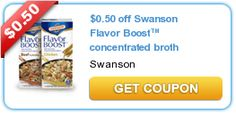 $0.50 off Swanson Flavor Boost™ concentrated broth #coupon