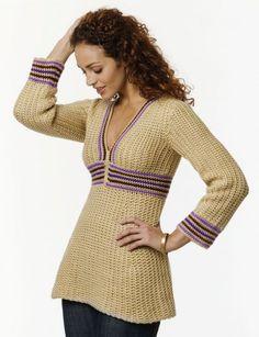 CrochetKim Free Crochet Pattern: Simple Tunic @crochetkim
