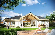 Zdjęcie projektu Rozłożysty WAH1552 House Plans, House Design, How To Plan, Mansions, House Styles, Outdoor Decor, Bungalows, Home Decor, Houses