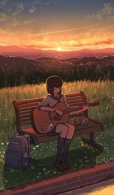 by pasoputi #anime #art #background.. | Fluffy Anime