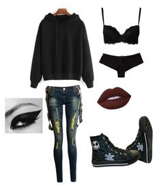 """""""Untitled #106"""" by mt-tomboy-emo-life ❤ liked on Polyvore featuring Wonderland and Lime Crime"""