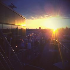 Sunset. A beautiful view from Park Inn by Radisson Hammarby Sjöstad. Where is the best place you have watched the sun go down?