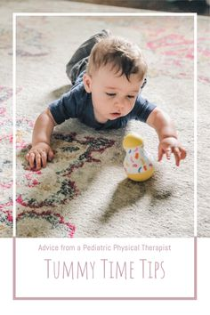 Tummy Time can seem intimidating, especially if your baby doesn't seem to like it! Here are some of our favorite tips and tricks to turn Tummy Time into fun using purposeful play! Activities For Babies Under One, Baby Activities, Feeding Baby Solids, Solids For Baby, Child Development Activities, Toddler Development, Baby Tips, Baby Hacks, Preparing For Baby