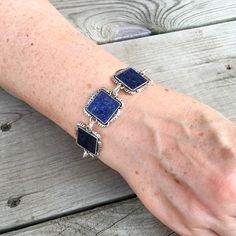 Square bezel petal bracelet personalized with your flower petals