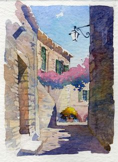 Thomas W Schaller - Oh how I love the rough thickness of that watercolor paper. You can feel it.